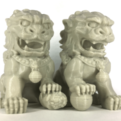 Free 3D printer file Chinese Guardian Lions - Split, yyh1002