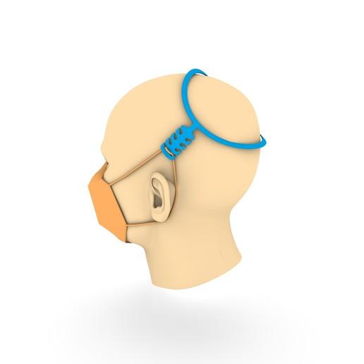 Télécharger fichier STL gratuit Harnais de tête de masque • Objet imprimable en 3D, HeyVye