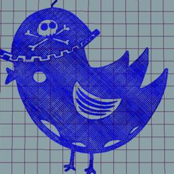 Download STL file bad bird • Model to 3D print, jos_ang