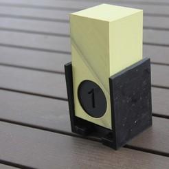 Download free 3D printing designs Perpetual flip calendar , radpl