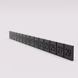 Free 3D printer designs Perpetual flip calendar , radpl
