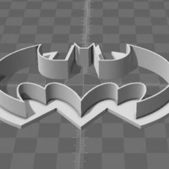 Download free 3D printing templates Batman cookie cutter, simiboy