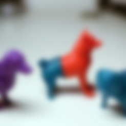 dog1_back.stl Download free STL file Mixable dog models - Puzzle game • Design to 3D print, simiboy