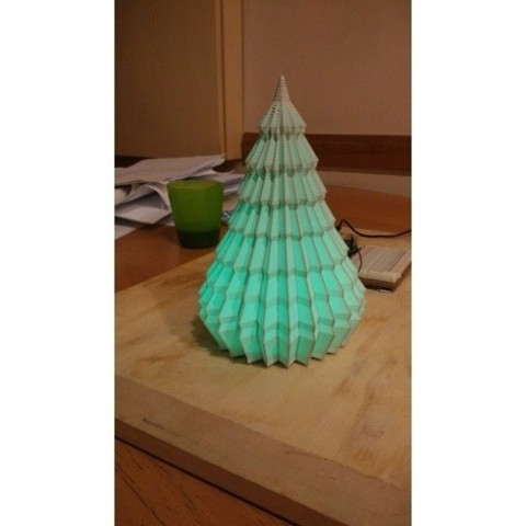 8c3b4dcf950fa1f5330048fb3002efd4_preview_featured.jpg Download free STL file Lighting Christmas Tree NeoPixel • Model to 3D print, simiboy