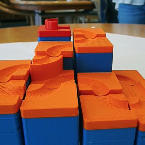 Free 3D printer model Marble ramp DIY (marble run), simiboy
