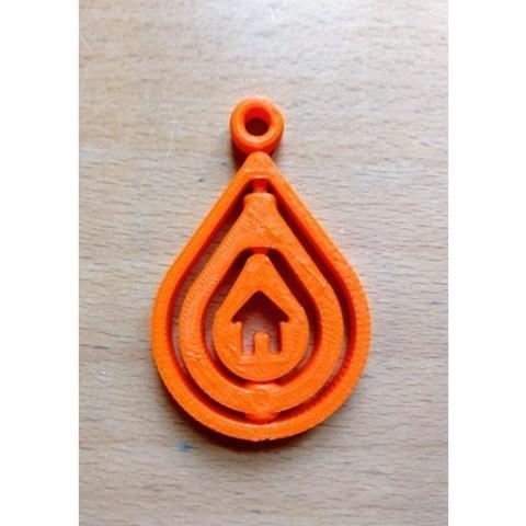 ac9fa01c34efc139ddc6efd56b5ab7a4_preview_featured.jpg Download free STL file Rotating Keychain - Raindrop shape • 3D print design, simiboy