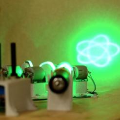 Objet 3D gratuit Spirographe laser à quatre moteurs DIY, simiboy