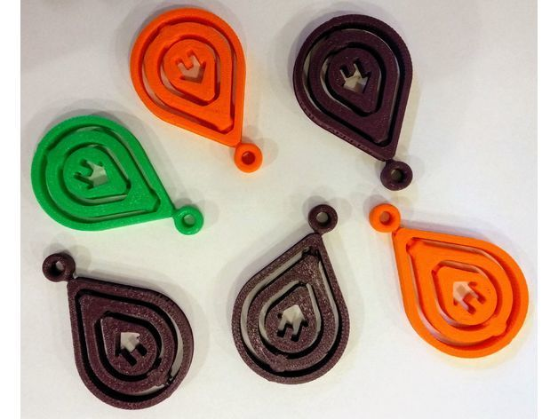 6178a544ff2959a1a3313e17d0b8763a_preview_featured.jpg Download free STL file Rotating Keychain - Raindrop shape • 3D print design, simiboy