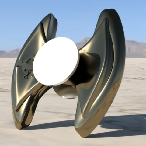 Capture d'écran 2018-04-16 à 15.26.45.png Download free STL file Dreadnought Fidget Spinner • 3D print object, ProteanMan