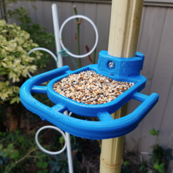 Download free 3D printer designs Bird Feeder - Pole Mounted, ProteanMan