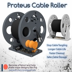 Free STL Proteus Cable Roller, ProteanMan