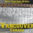 Free STL files Vancouver Canada - 3D Map, ProteanMan