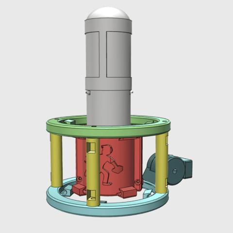 Descargar diseños 3D gratis MXL 4000 Montaje con amortiguador (Personalizado), ProteanMan
