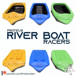 Free 3D printer model Proteus River Racers, ProteanMan