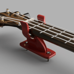 "archivos 3d ""Smooth Mount"" - Soporte de pared para guitarra/kulele gratis, ProteanMan"