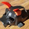 "Free 3D printer designs ""Mean As Hell"" Dog Helmet, ProteanMan"