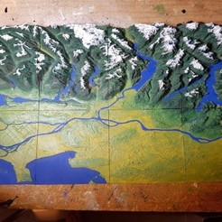 Free 3D printer file Vancouver - British Columbia - 3D Map - Topographic, ProteanMan