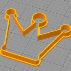 Corona1.PNG Download STL file Crown Cookie • 3D print object, euge_bauer