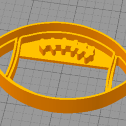 Download STL files Rugby Ball Cookie Cutter, euge_bauer