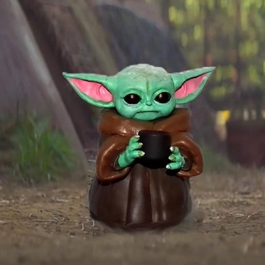 Download 3D printing designs Baby Yoda The Child Mandalorian - 3D FanArt - 3D Print, particledancer