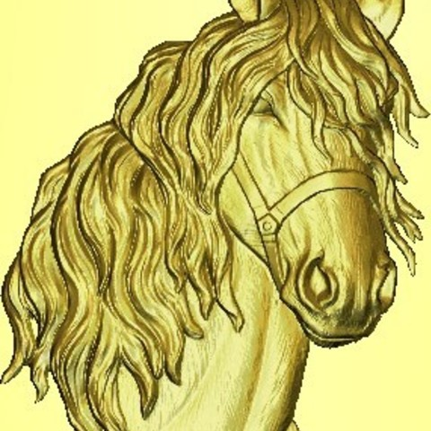 STL cabeza de caballo, garabedovj