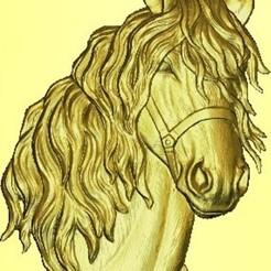diseños 3d cabeza de caballo, garabedovj
