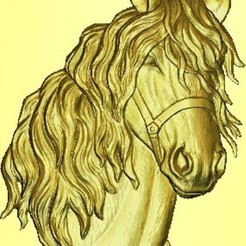 Impresiones 3D cabeza de caballo, garabedovj