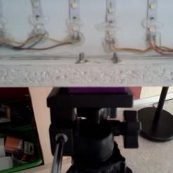Impresiones 3D gratis Soporte de iluminación para bricolaje (con 1/4 de tuerca), Birdo-3D