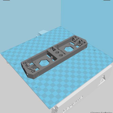 Download free 3D printer files Dagoma DiscoEasy200 dual extrusion rear panel, Birdo-3D
