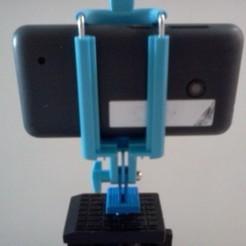 Impresiones 3D gratis Fijación de teléfono - trípode (con 1/4 de tuerca), Birdo-3D