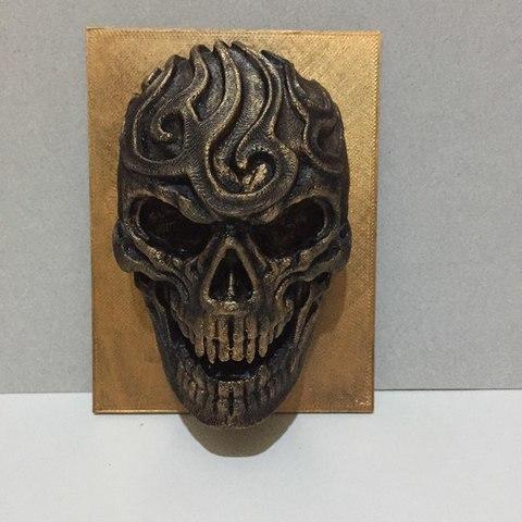 Free 3D print files artistic skull, AngelSpy