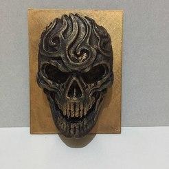 Archivos STL gratis cráneo artístico, AngelSpy