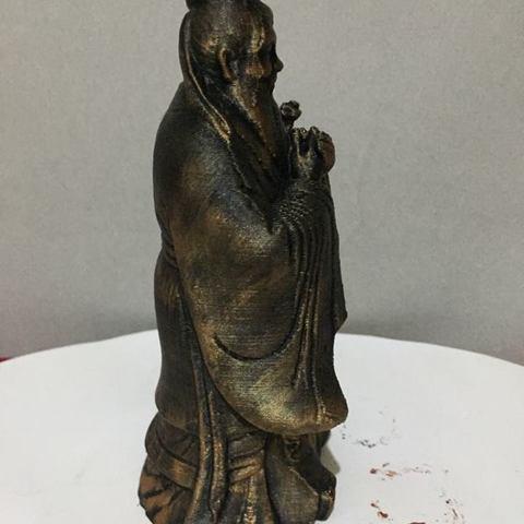 modelo stl gratis Estatua de Confucio, AngelSpy