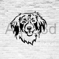 Download 3D printing templates Wall decoration Kooikerhondje dog, alexis6251062510
