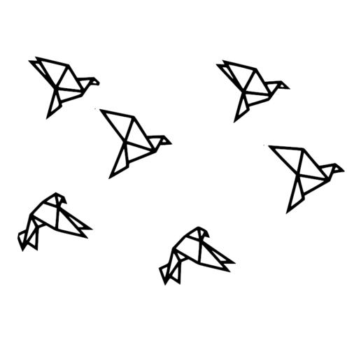 Télécharger fichier STL gratuit Décoration murale oiseaux origami • Plan à imprimer en 3D, alexis6251062510