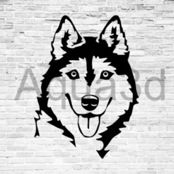 Download free 3D print files Husky wall decoration, alexis6251062510