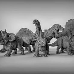 Descargar STL gratis Paquetes de dinosaurios, alexis6251062510