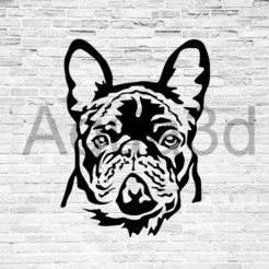 bulldog.jpg Download free STL file Bulldog wall decoration • 3D printable template, alexis6251062510