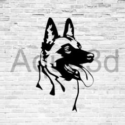 Descargar archivos 3D gratis Decoración de paredes Malinois, alexis6251062510