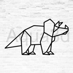 Download free 3D printing models Wall decoration Dinosaurs origami, alexis6251062510