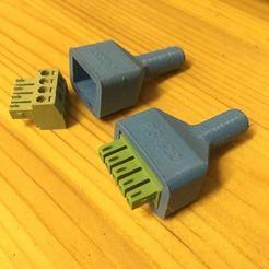 Free 3D printer files PCB Plug-in Terminal Blocks connector cable cover, rubenzilzer