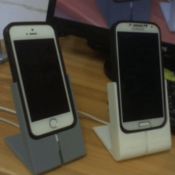Free STL files iphone and galxy s4 stands with 2mm case, rubenzilzer