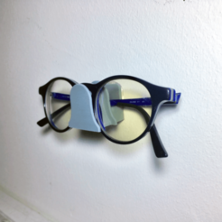 Free Eyeglasses wall mount holder 3D printer file, rubenzilzer