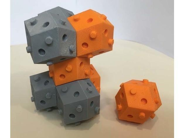 30491fd200ac3b9198e8d5801374bfdd_preview_featured.jpg Télécharger fichier STL gratuit bloc de bulbe rhom-dod (dodécaèdre rhombique) • Design à imprimer en 3D, rubenzilzer