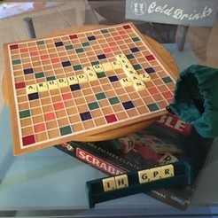 Download free STL files grid for Scrabble Board, rubenzilzer