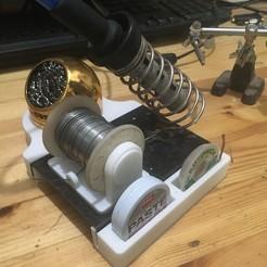 Objet 3D gratuit support de bobine de station à souder et extras, rubenzilzer