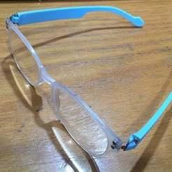 Télécharger plan imprimante 3D gatuit remplacement des branches de lunettes, rubenzilzer