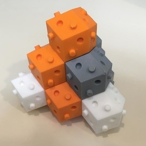 Descargar modelo 3D gratis bloque de bulto de rhom-dod (dodecaedro rombal), rubenzilzer