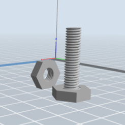 Download free 3D printer designs  little nut and bolt , MrsXYZ