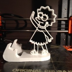 IMG_6113.JPG Download STL file phone holder lisa simpson • Template to 3D print, ernestmocassin